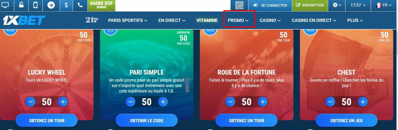Ou peut-on trouver 1xBet code promo?